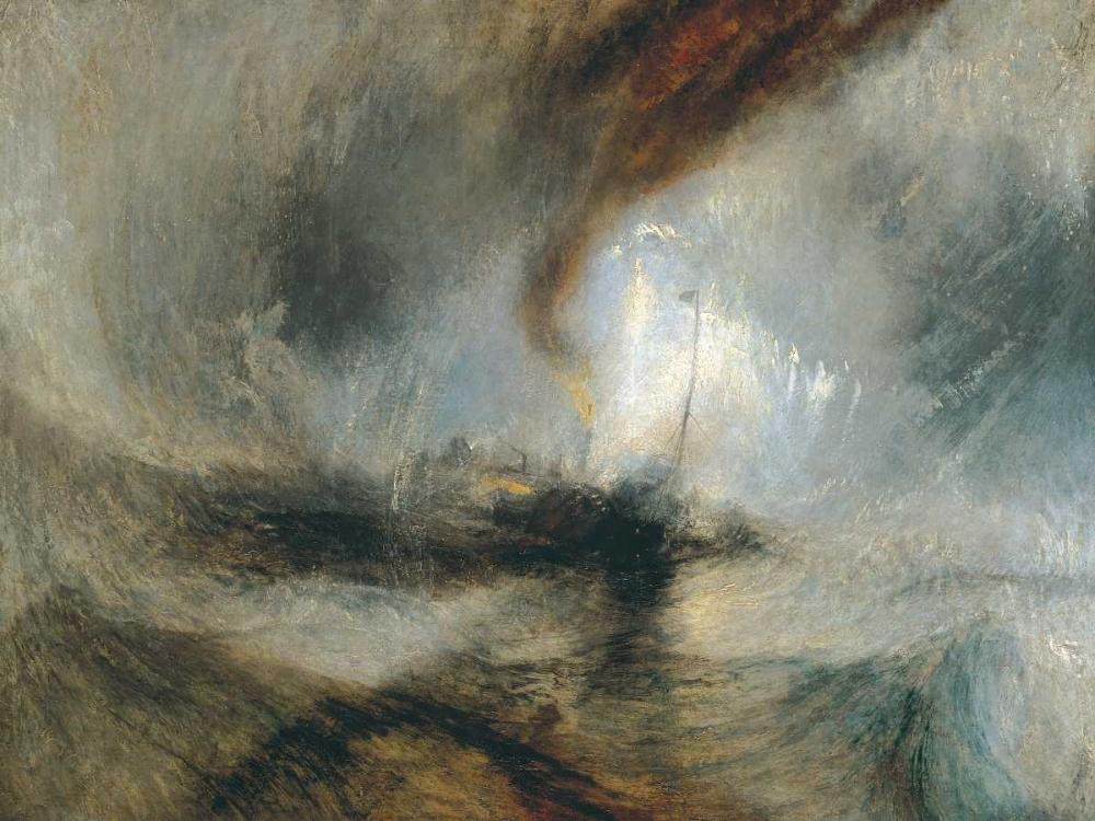 konfigurieren des Kunstdrucks in Wunschgröße Snow Storm - Steam Boat off a Harbours Mouth von Turner, William