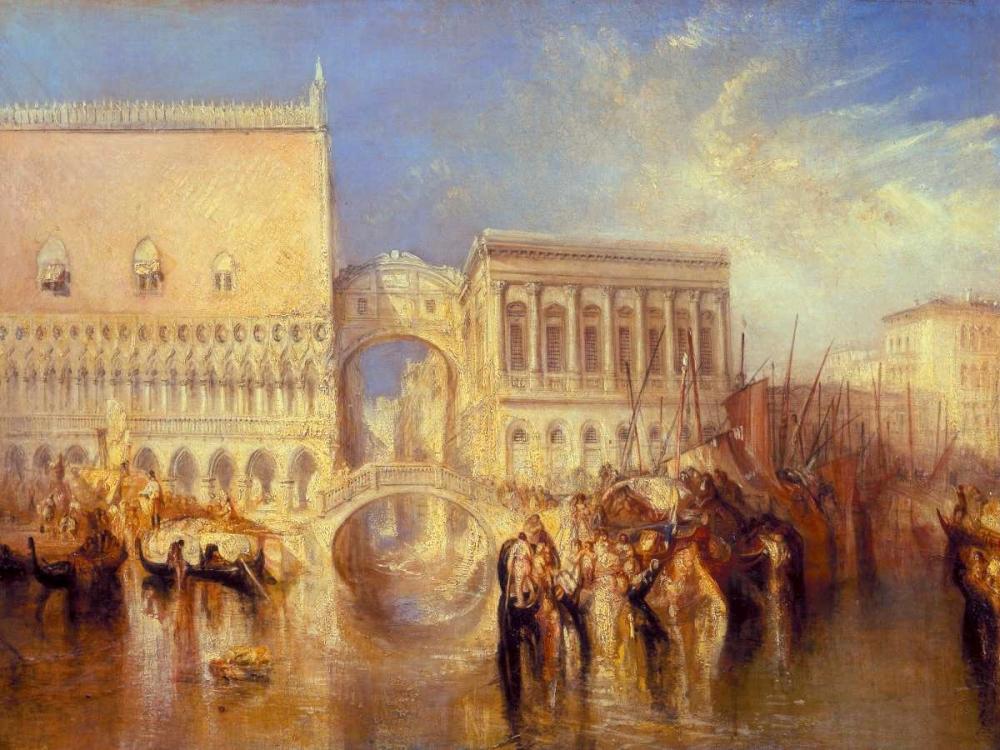 konfigurieren des Kunstdrucks in Wunschgröße Venice - the Bridge of Sighs von Turner, William