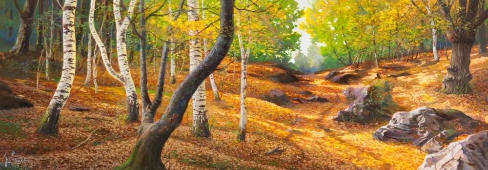 Sentiero nel bosco von Galasso, Adriano <br> max. 229 x 79cm <br> Preis: ab 10€