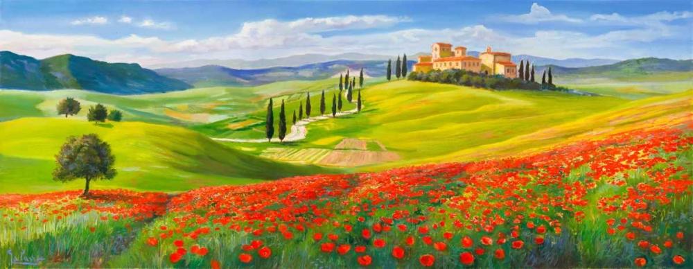 Verso il borgo in Toscana von Galasso, Adriano <br> max. 216 x 84cm <br> Preis: ab 10€
