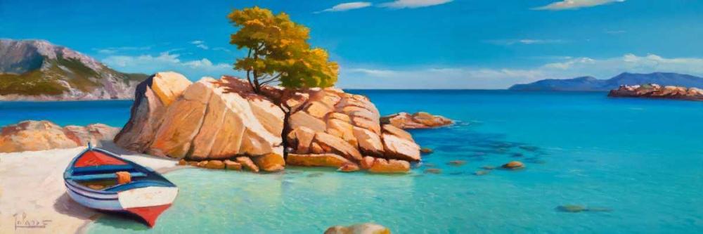 Cala smeraldo von Galasso, Adriano <br> max. 234 x 76cm <br> Preis: ab 10€