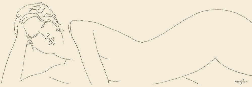 konfigurieren des Kunstdrucks in Wunschgröße Nu allonge von Modigliani, Amedeo