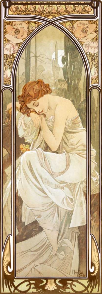 Times of the Day: Nightly von Mucha, Alphonse <br> max. 79 x 229cm <br> Preis: ab 10€