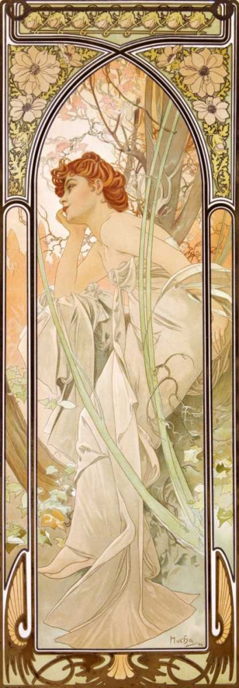 Times of the Day: Evening von Mucha, Alphonse <br> max. 79 x 229cm <br> Preis: ab 10€