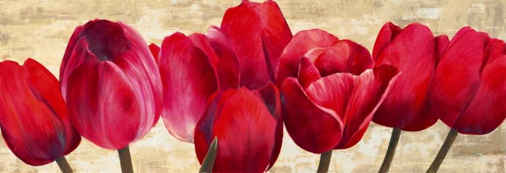 konfigurieren des Kunstdrucks in Wunschgröße Red Tulips von Ann, Cynthia