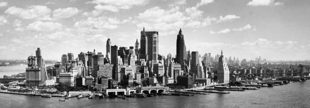 konfigurieren des Kunstdrucks in Wunschgröße Manhattan waterfront von Anonymous