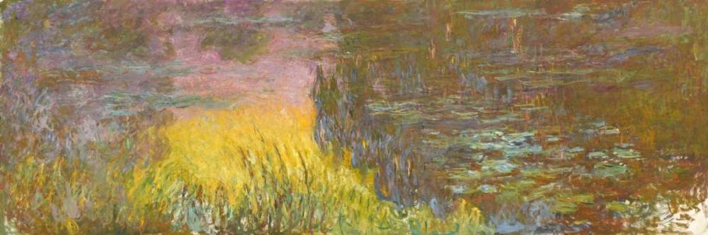 konfigurieren des Kunstdrucks in Wunschgröße The Water Lilies - Setting Sun von Monet, Claude
