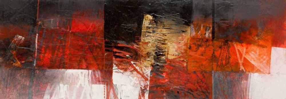 konfigurieren des Kunstdrucks in Wunschgröße Equilibri in rosso von Censini