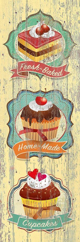 konfigurieren des Kunstdrucks in Wunschgröße Fresh-Baked Cupcakes von Skip Teller