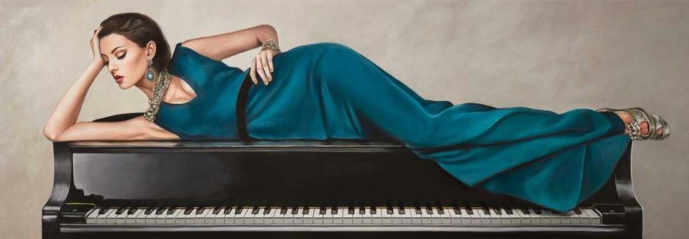 konfigurieren des Kunstdrucks in Wunschgröße Piano Lady von Duval, Sonya