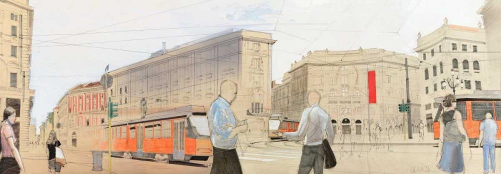 konfigurieren des Kunstdrucks in Wunschgröße Urban Landscape von Einzelbilder