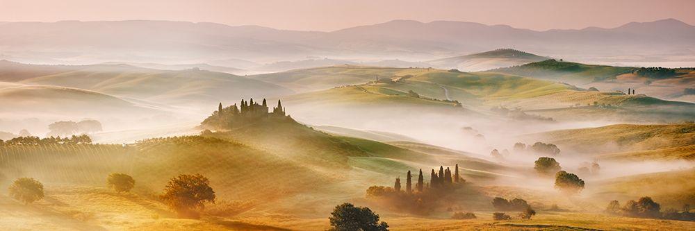 konfigurieren des Kunstdrucks in Wunschgröße Val dOrcia panorama- Siena- Tuscany von Krahmer, Frank