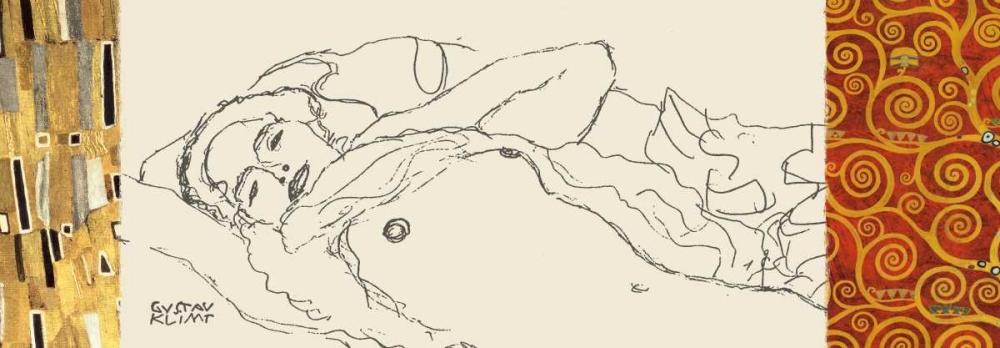 konfigurieren des Kunstdrucks in Wunschgröße Deco Woman I von Klimt, Gustav