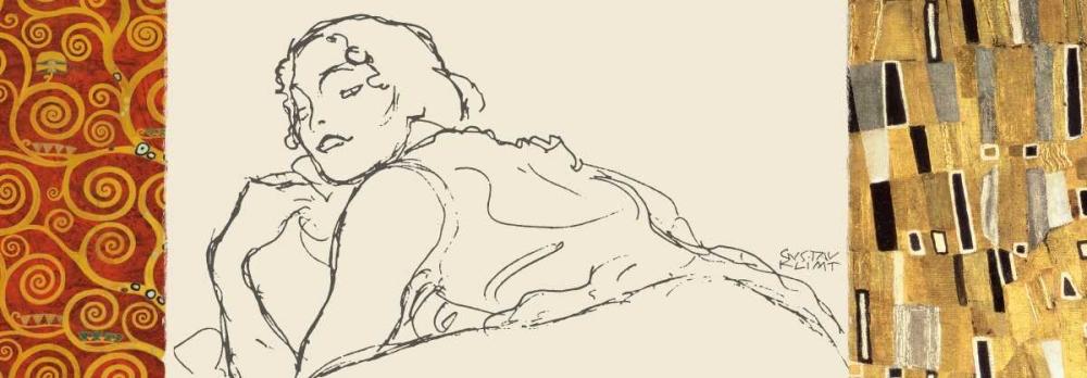 konfigurieren des Kunstdrucks in Wunschgröße Deco Woman II von Klimt, Gustav