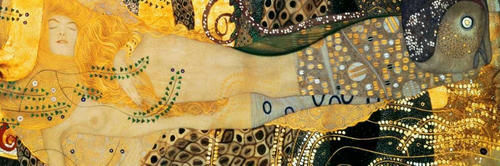 konfigurieren des Kunstdrucks in Wunschgröße Water Serpents I von Klimt, Gustav