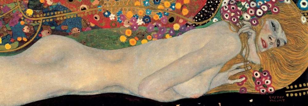 konfigurieren des Kunstdrucks in Wunschgröße Sea Serpents II von Klimt, Gustav