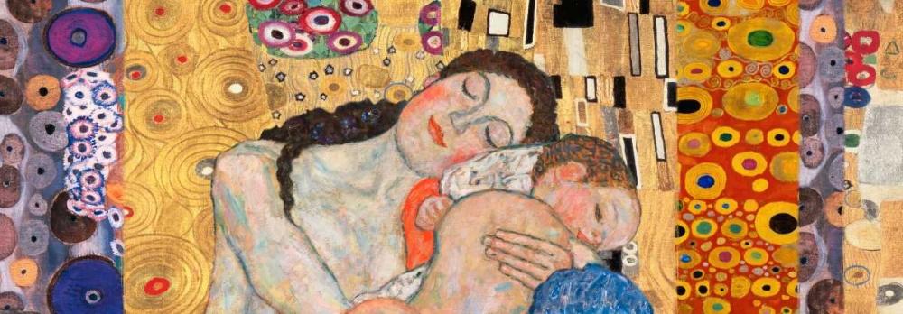 konfigurieren des Kunstdrucks in Wunschgröße Deco Panel-Death and Life von Klimt, Gustav