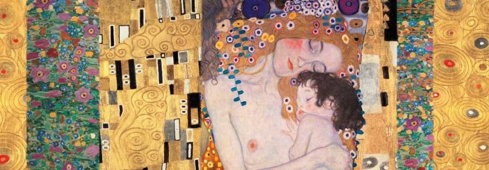 konfigurieren des Kunstdrucks in Wunschgröße Deco Panel-The Three Ages of Woman von Klimt, Gustav