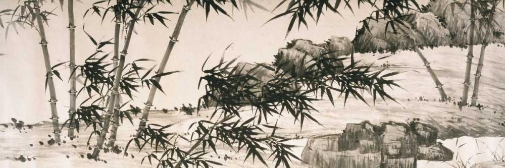 konfigurieren des Kunstdrucks in Wunschgröße Bamboo under Spring Rain von Einzelbilder