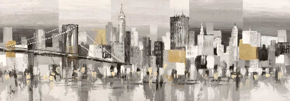 Manhattan and Brooklyn Bridge von Florio, Luigi <br> max. 257 x 89cm <br> Preis: ab 10€