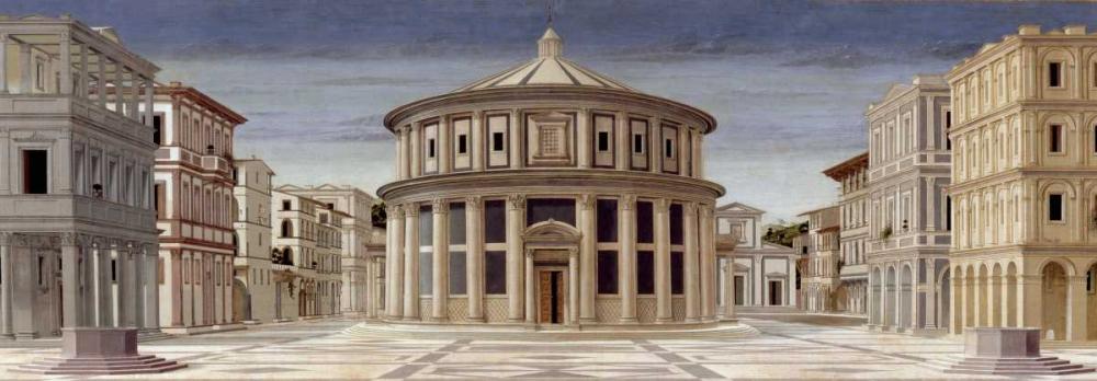 konfigurieren des Kunstdrucks in Wunschgröße La citta ideale von della Francesca, Piero