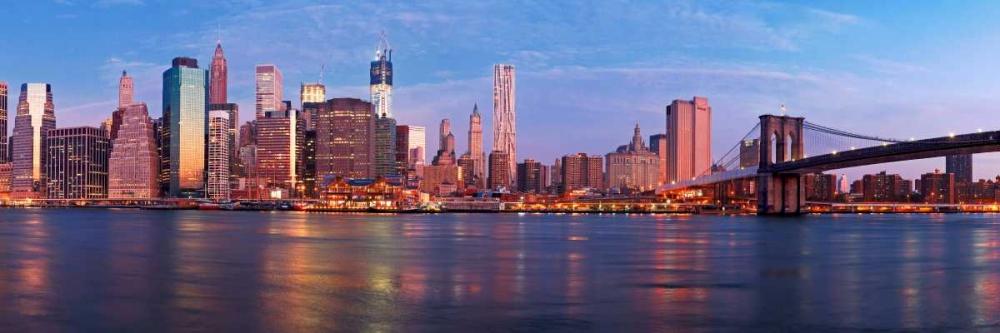 konfigurieren des Kunstdrucks in Wunschgröße Manhattan and Brooklyn Bridge, NYC von Ratsenskiy, Vadim