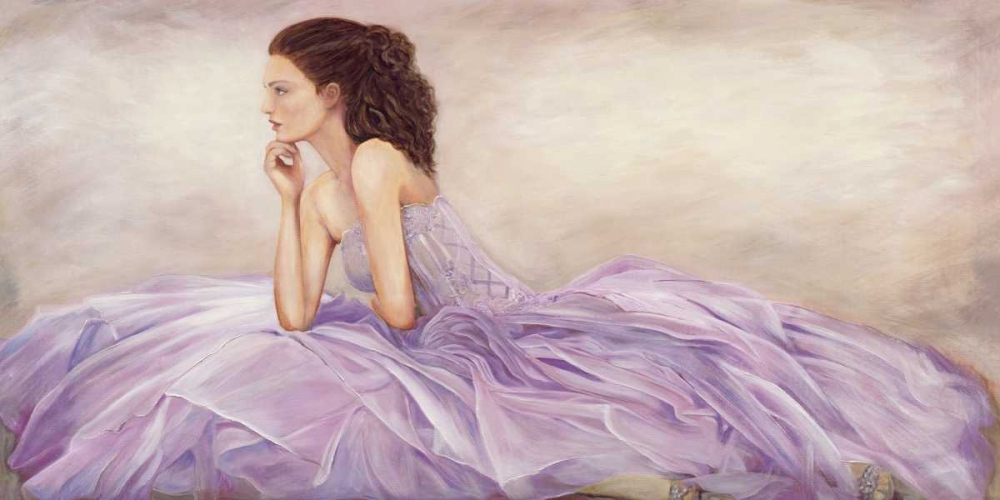 konfigurieren des Kunstdrucks in Wunschgröße Donna in rosa von Bassetti, Andrea