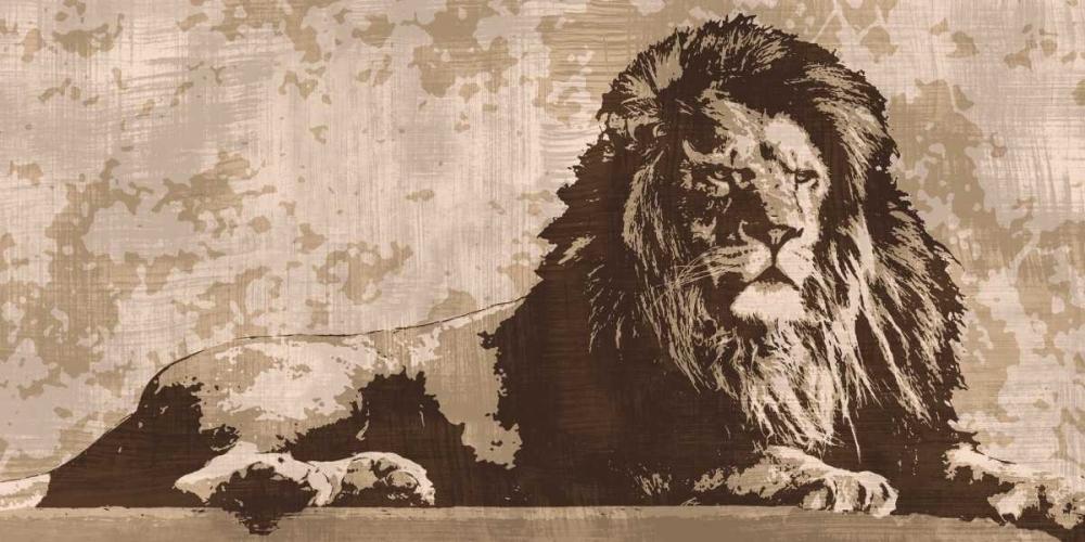 konfigurieren des Kunstdrucks in Wunschgröße Lion von Cooper, Andrew