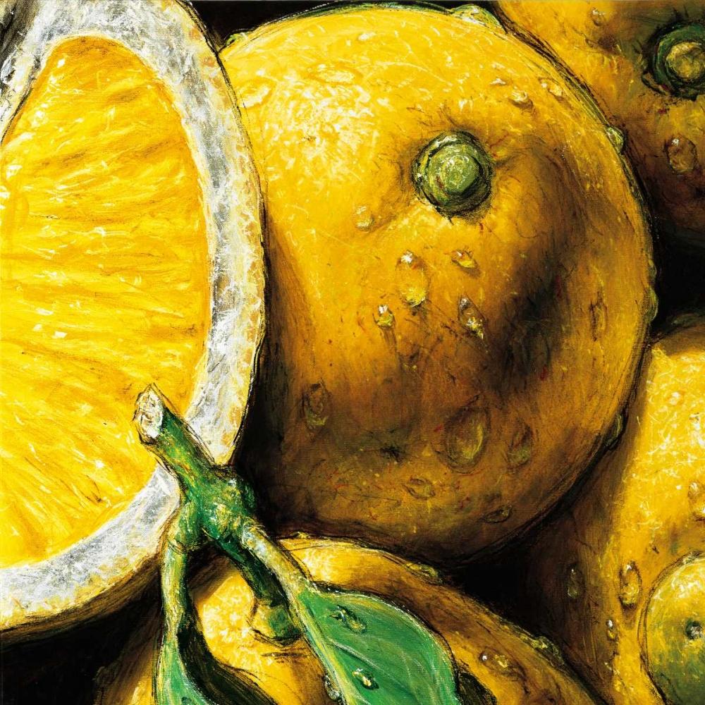 konfigurieren des Kunstdrucks in Wunschgröße Lemons von AlmaCh