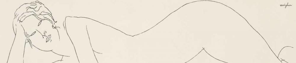 konfigurieren des Kunstdrucks in Wunschgröße Nudo sdraiato von Modigliani, Amedeo