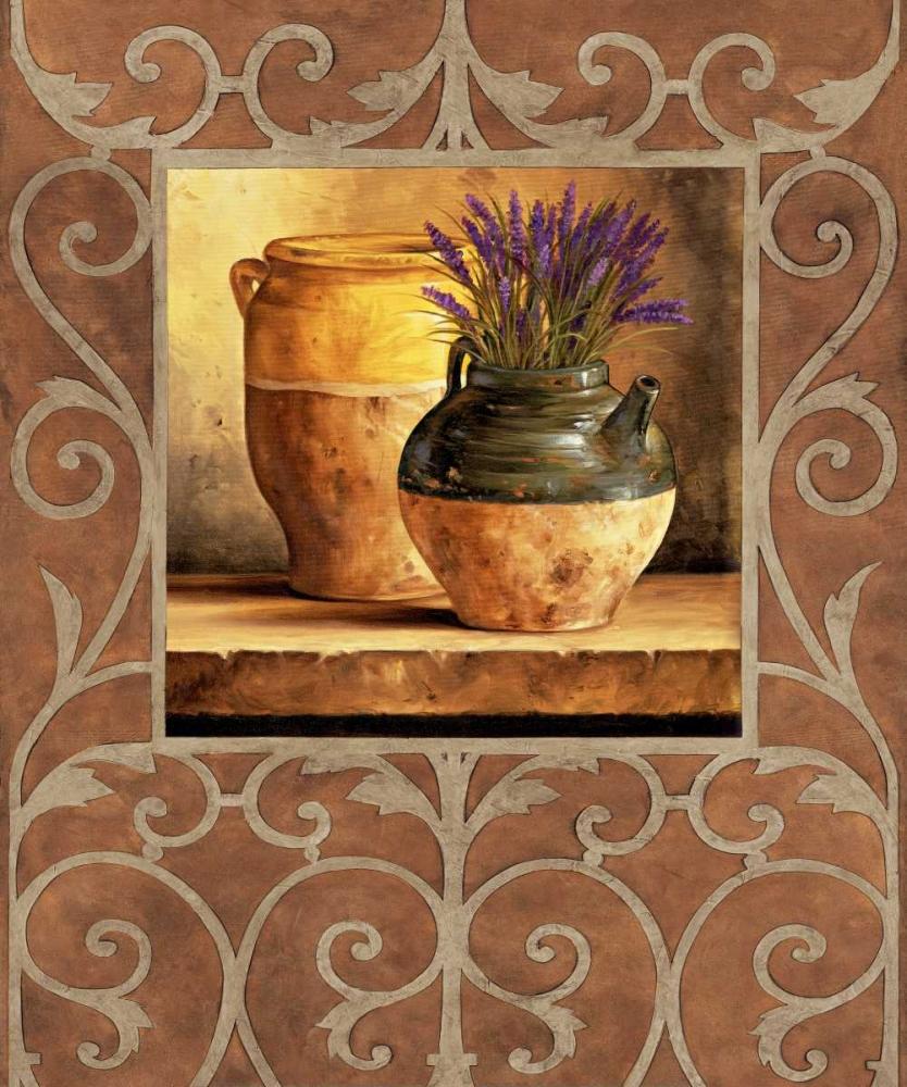 konfigurieren des Kunstdrucks in Wunschgröße Vases with Lavender von Gonzales, Andres