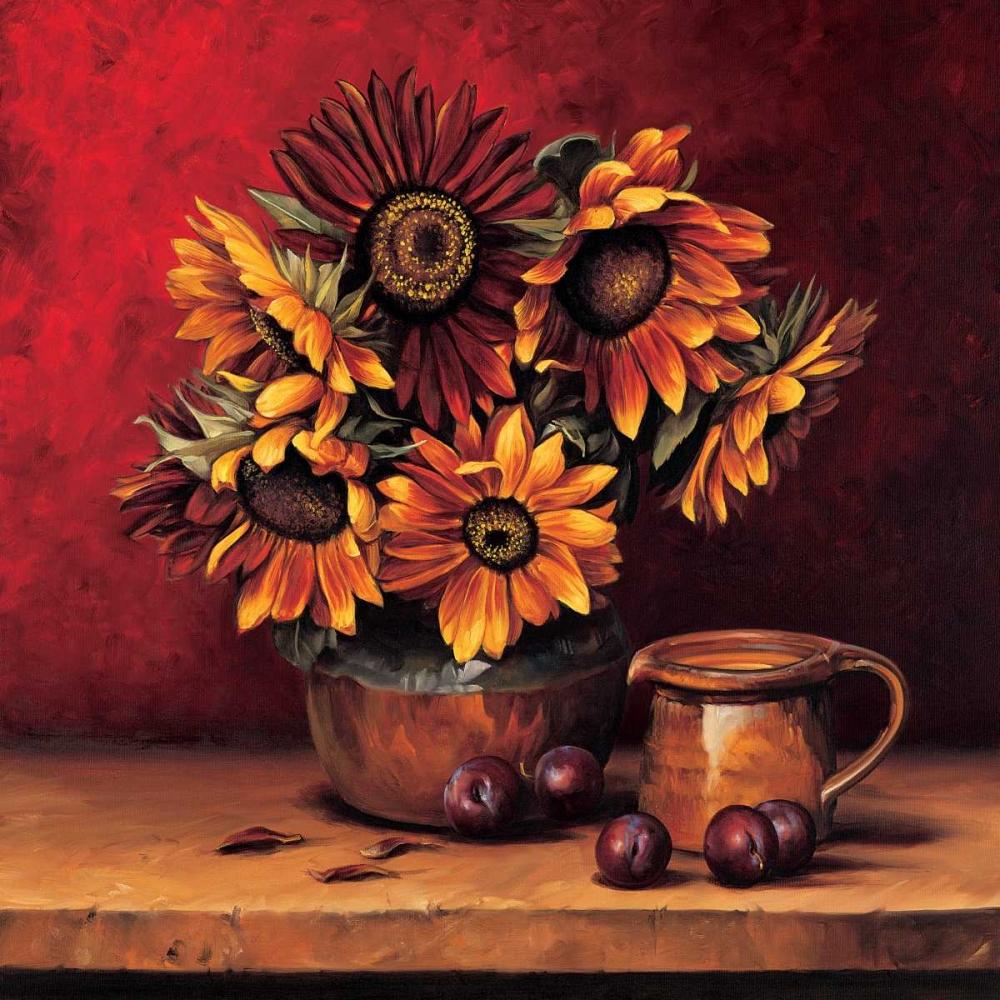 konfigurieren des Kunstdrucks in Wunschgröße Sunflowers with Plums von Gonzales, Andres