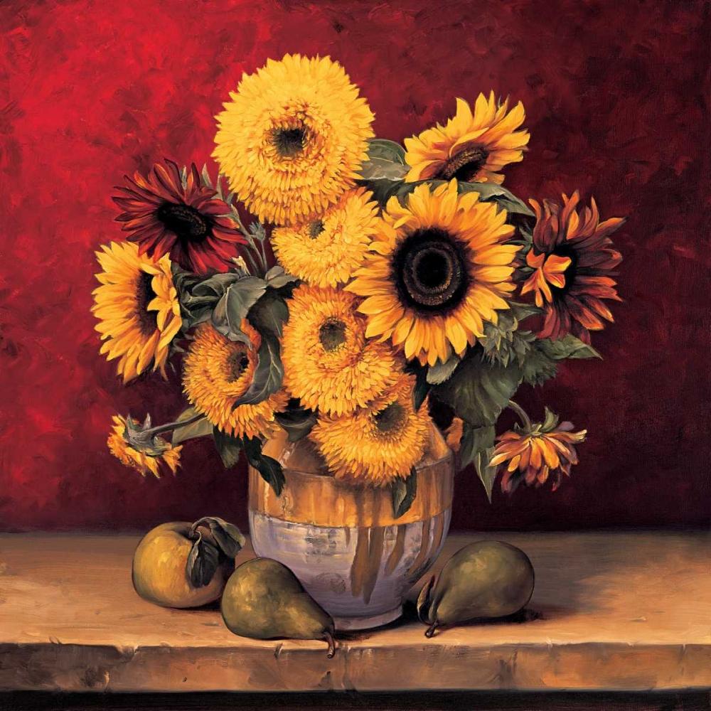 konfigurieren des Kunstdrucks in Wunschgröße Sunflowers with Pears von Gonzales, Andres