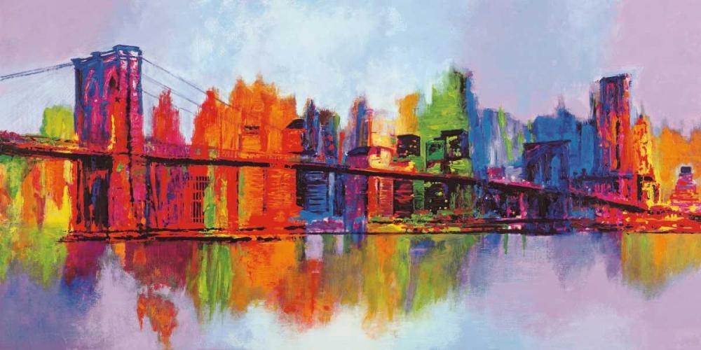konfigurieren des Kunstdrucks in Wunschgröße Abstract Manhattan von Carter, Brian