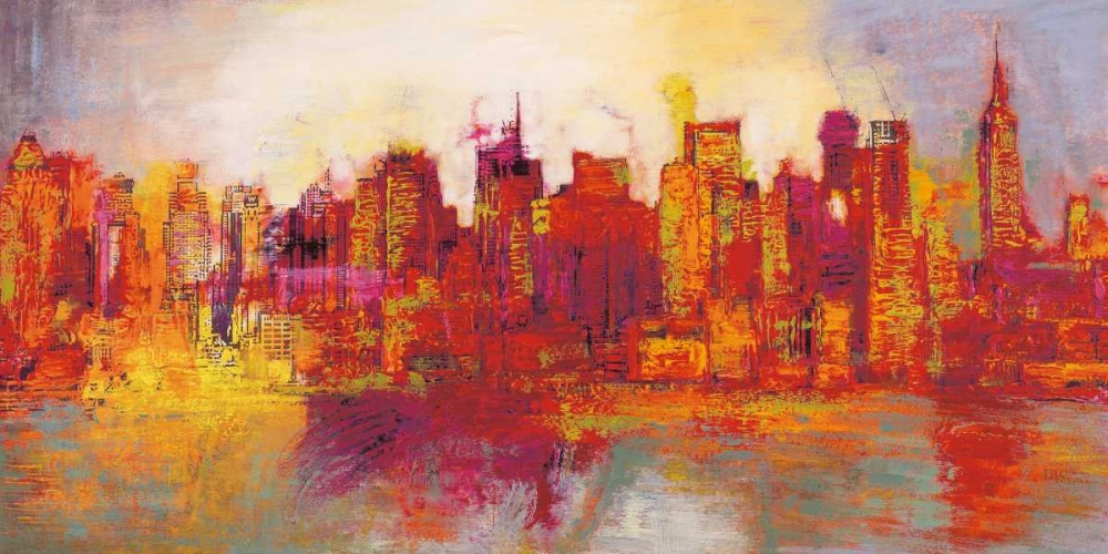 konfigurieren des Kunstdrucks in Wunschgröße Abstract New York City von Carter, Brian