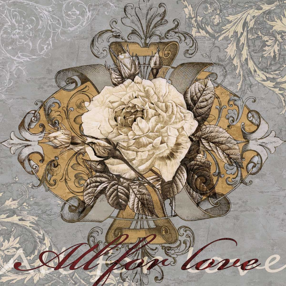konfigurieren des Kunstdrucks in Wunschgröße All for Love von Glover, Brandon