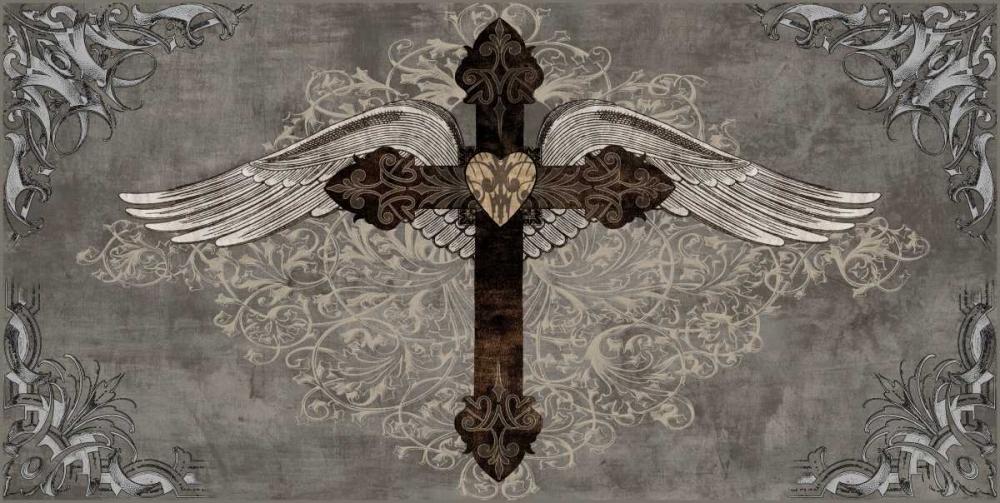 konfigurieren des Kunstdrucks in Wunschgröße Cross with Wings von Glover, Brandon