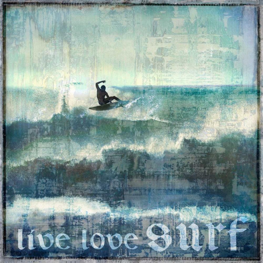 konfigurieren des Kunstdrucks in Wunschgröße Live Love Surf von Carter, Charlie