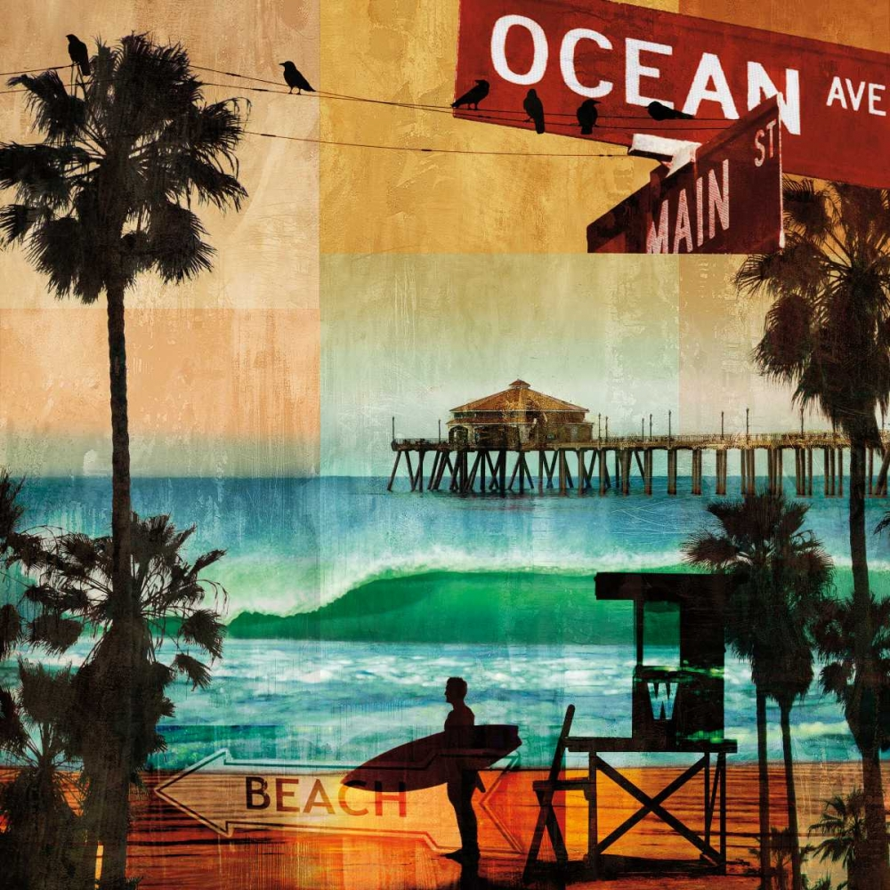 konfigurieren des Kunstdrucks in Wunschgröße Ocean Avenue von Carter, Charlie