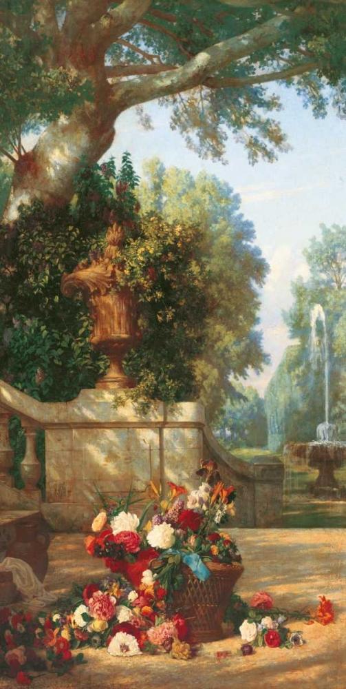 konfigurieren des Kunstdrucks in Wunschgröße Panneau decoratif á le corveil von Dugasseau, Charles