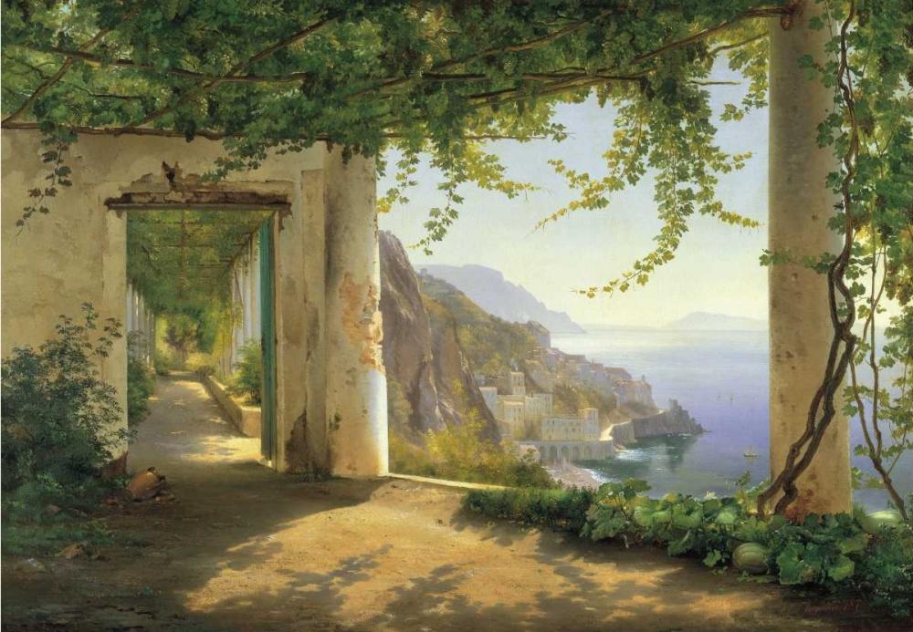 konfigurieren des Kunstdrucks in Wunschgröße View to the Amalfi Coast von Aagaard, Carl Frederic