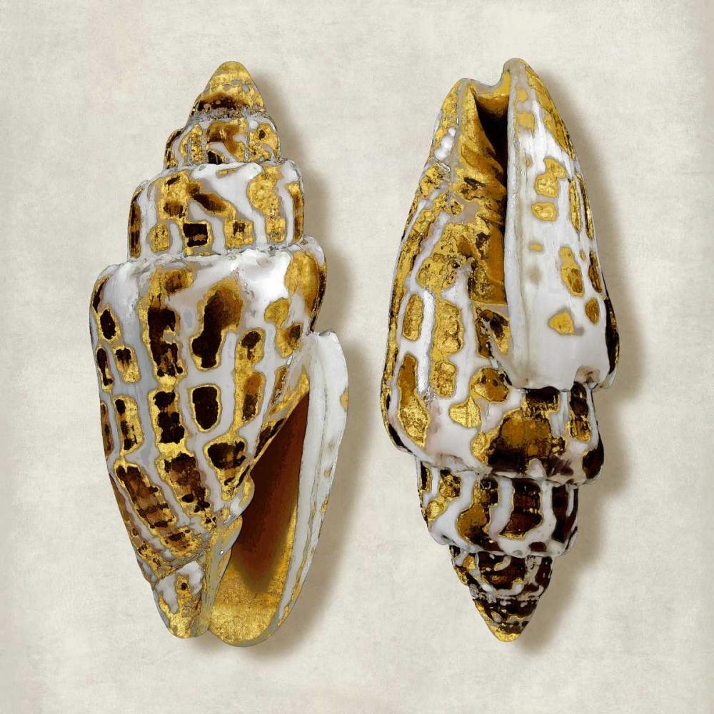 konfigurieren des Kunstdrucks in Wunschgröße Golden Ocean Gems on Ivory I von Kelly, Caroline