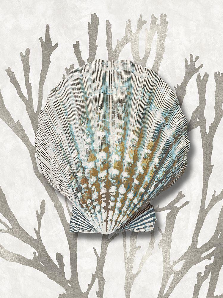 konfigurieren des Kunstdrucks in Wunschgröße Shell Coral Silver IV von Kelly, Caroline