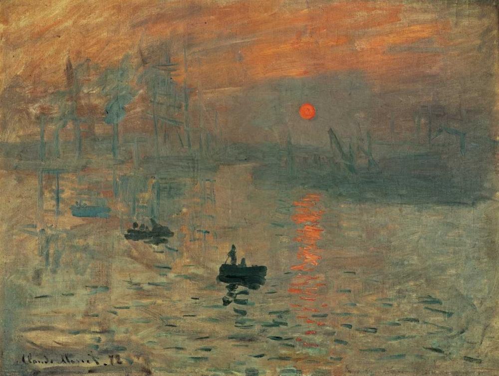 konfigurieren des Kunstdrucks in Wunschgröße Impression brouillard von Monet, Claude