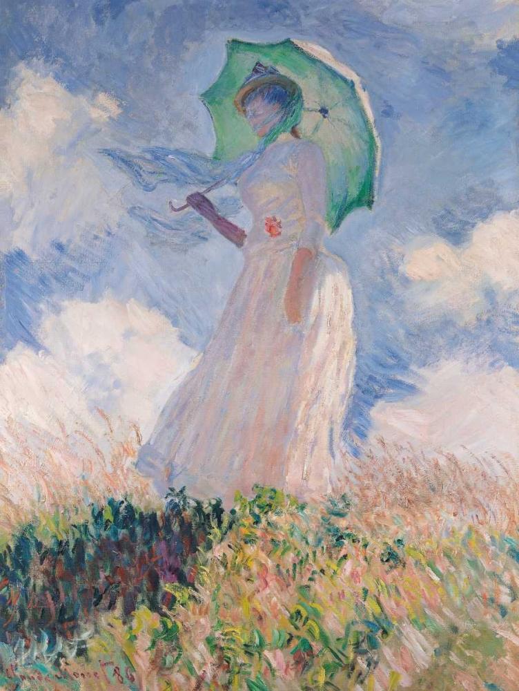 konfigurieren des Kunstdrucks in Wunschgröße Woman with Parasol von Monet, Claude
