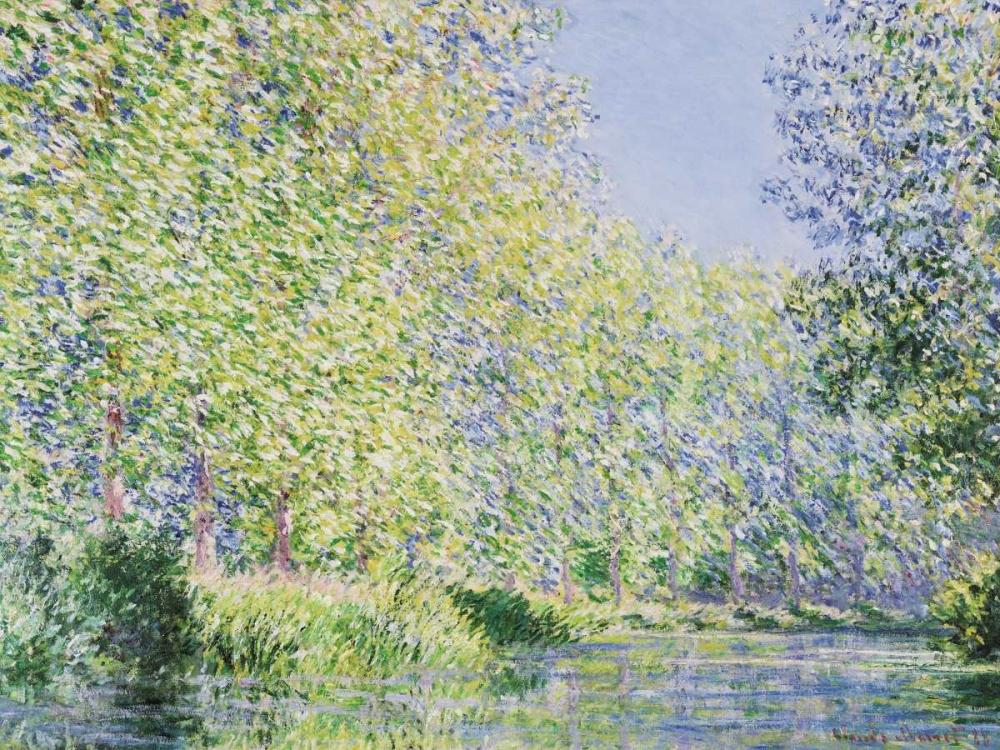 konfigurieren des Kunstdrucks in Wunschgröße The Epte River near Giverny von Monet, Claude