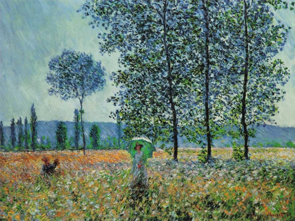 konfigurieren des Kunstdrucks in Wunschgröße Felder im Fruhling von Monet, Claude