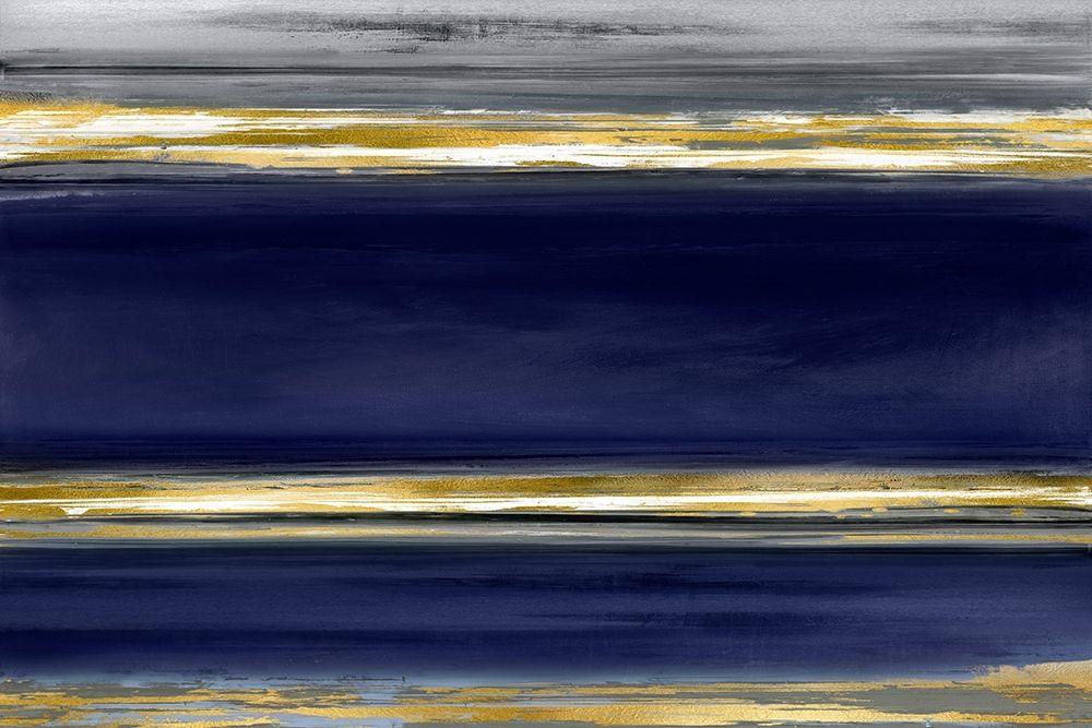 konfigurieren des Kunstdrucks in Wunschgröße Parallel Lines on Indigo von Corbin, Allie