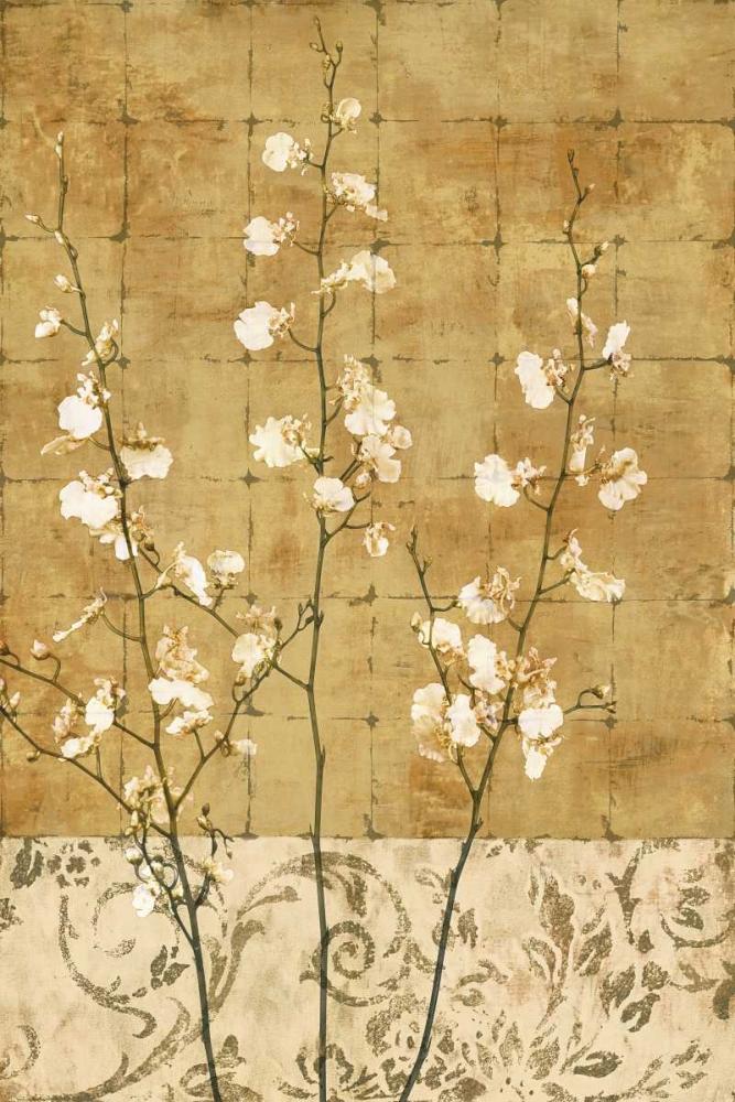 konfigurieren des Kunstdrucks in Wunschgröße Blossoms in Gold II von Donovan, Chris