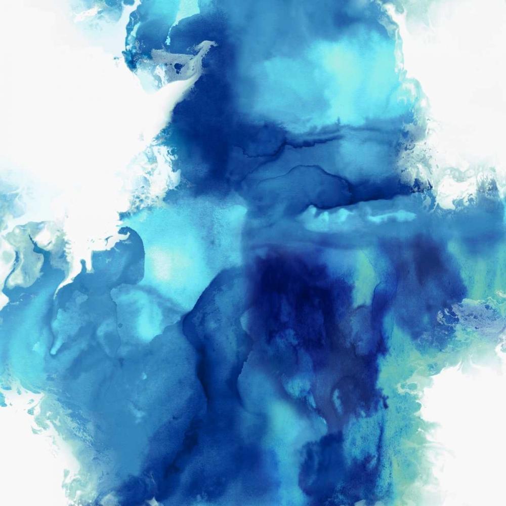 konfigurieren des Kunstdrucks in Wunschgröße Ascending in Blue I von Hudson, Daniela